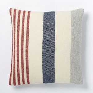 West Elm Faribault Wool Pillow Cover Stripe